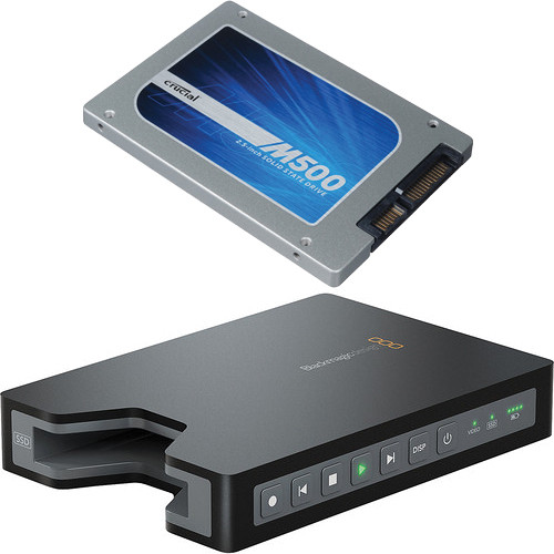 "Blackmagic Design HyperDeck Shuttle 2 SSD Video Recorder/ 480GB 2.5"" SSD Kit"