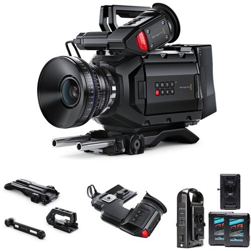 Blackmagic Design URSA Mini 4.6K Digital Cinema Camera (PL) Bundle with Shoulder-Mount Kit & EVF