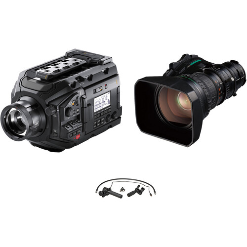 Blackmagic Design URSA with ENG Telephoto Lens and Rear Zoom/Focus Control Kit