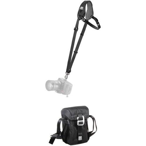 BlackRapid Curve Breathe Single Strap with Lens Bag (B&H Kit, Black)