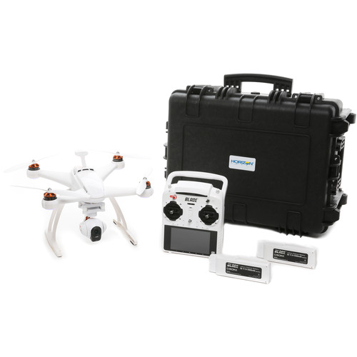 BLADE Chroma Camera Drone with CGO3-GB 4K Camera, ST-10+ Ground Station, 6300mAh LiPo Flight Battery with Charger, and USB Program Cable