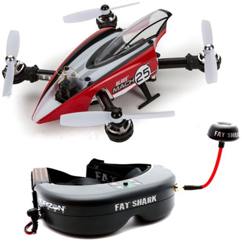 BLADE Mach 25 FPV Quadcopter with Teleporter V4 Headset (BNF)