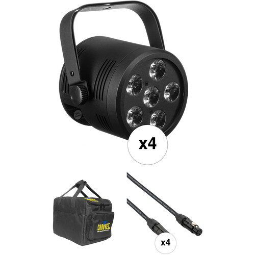 Blizzard LB Hex Unplugged LED PAR Fixture Kit with Case and Cables