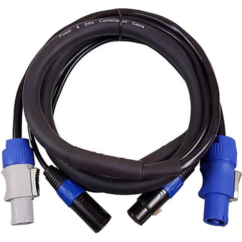 Blizzard Cool Cable powerCON & DMX 3-Pin Combo Cable (3')