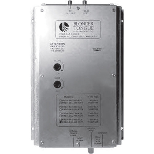 Blonder Tongue FRDA-S4A-860-SA Fiber Optic Receiver and RF Distribution Amplifier