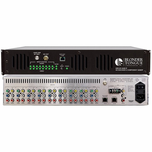 Blonder Tongue HDE-8C-QAM/IP Component and Composite to QAM/ASI/IP MPEG-2 HD Encoder (8 Programs)