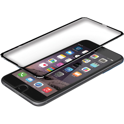 BlooPro Clear Premium Tempered Glass Screen Protector for iPhone 6/6s (Black Rim)
