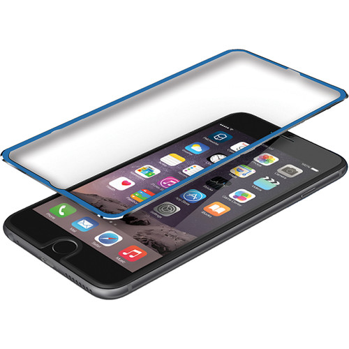 BlooPro Clear Premium Tempered Glass Screen Protector for iPhone 6/6s (Blue Rim)