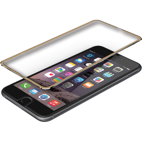 BlooPro Clear Premium Tempered Glass Screen Protector for iPhone 6/6s (Gold Rim)