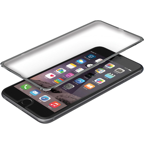 BlooPro Clear Premium Tempered Glass Screen Protector for iPhone 6/6s (Gray Rim)