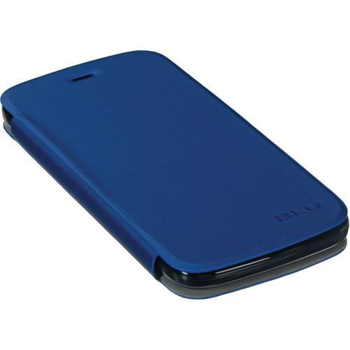 BLU Flip Case for Life Play L100A (Black/Dark Blue)