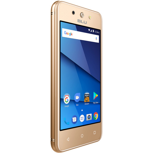 BLU Dash L4 LTE D0050UU Dual-SIM 8GB Smartphone (Unlocked, Gold)