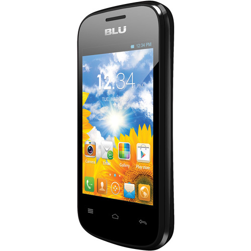 BLU Dash Jr D140 512MB Smartphone (Unlocked, Black)