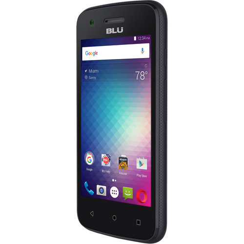 BLU Dash L2 D250U 4GB Smartphone (Unlocked, Black)