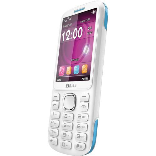 BLU Jenny TV 2.8 T276T Feature Phone (Unlocked, White/Blue)
