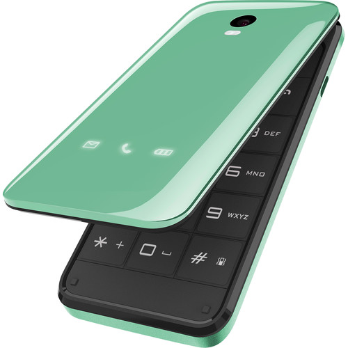 BLU DIVA FLIP 32MB Feature Phone (Unlocked, Green)