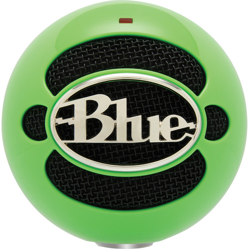 Blue Snowball USB Condenser Microphone with Accessory Pack (Neon Green)