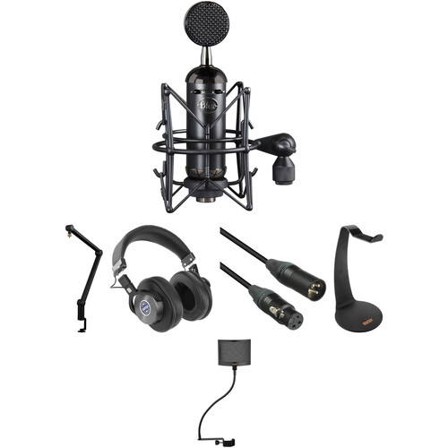 Blue Blackout Spark SL XLR Condenser Microphone Kit with Compass Boom Arm & More