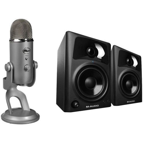 Blue Yeti USB Microphone & Monitor Speaker Kit