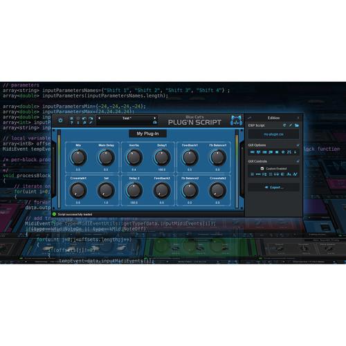 Blue Cat Audio Plug'n Script - Audio and MIDI Scripting Plug-In - Programming Tool (Download)