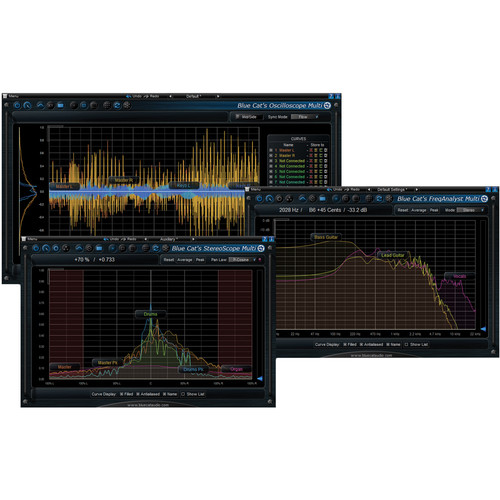 Blue Cat Audio Multi Pack Multiple Track Analysis Plug-In Pack