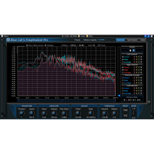 Blue Cat Audio FreqAnalyst Pro Spectral Analysis Tool and Automation Generator Plug-In