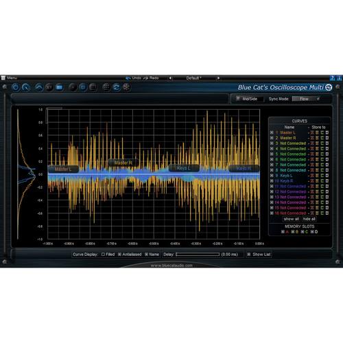 Blue Cat Audio Oscilloscope Multi Multiple Track Waveform Visualize and Comparator Plug-In
