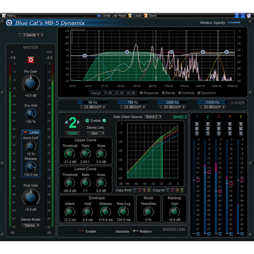 Blue Cat Audio MB-5 Dynamix Multiband Dynamic Processing Plug-In