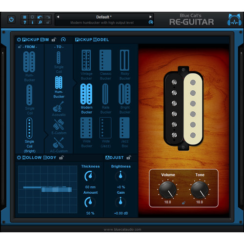 Blue Cat Audio Re-Guitar - Acoustic/Electric Guitar Tone Emulation for Producers & Engineers (Download)