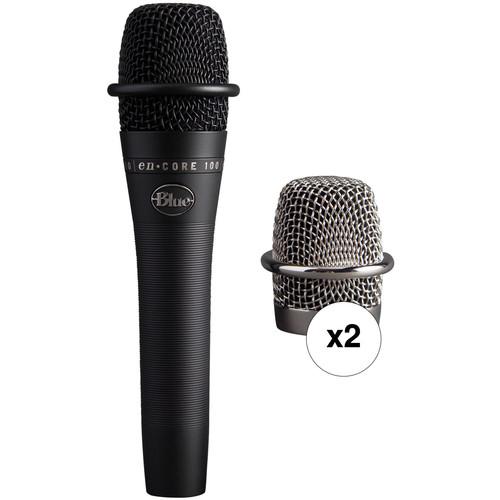 Blue enCORE 100 Dynamic Handheld Vocal Microphone 2-Pack Kit