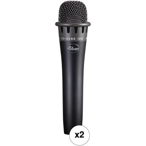 Blue Encore 100i Dynamic Instrument Microphone Pair Kit