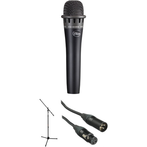 Blue enCORE 100i Dynamic Instrument Microphone with Stand Kit (Black)