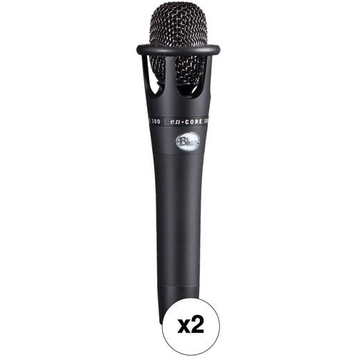 Blue enCORE 300 Condenser Handheld Vocal Microphone Kit (Black, Pair)