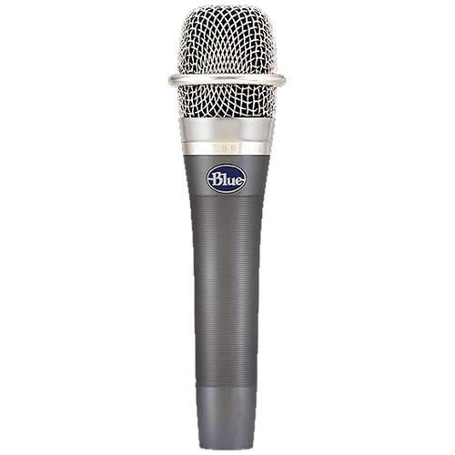 Blue Pair of enCORE 100 Handheld Dynamic Microphones Kit
