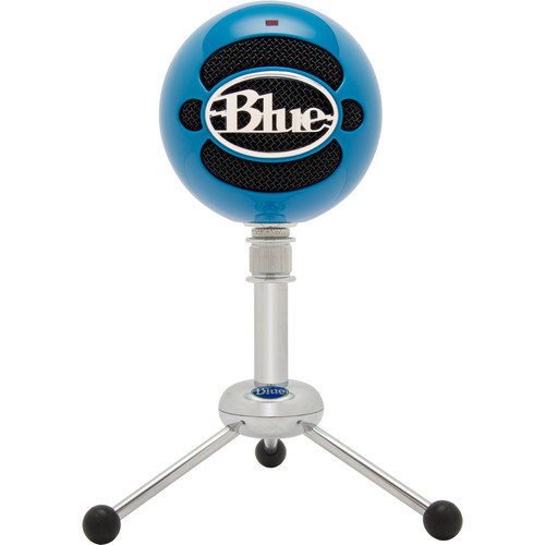 Blue Snowball USB Condenser Microphone with Accessory Pack (Neon Blue)