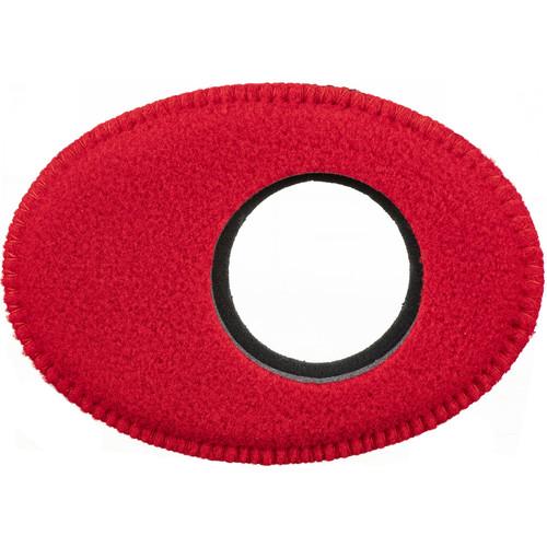 Bluestar Oval Extra Large Viewfinder Eyecushion (Fleece, Red)