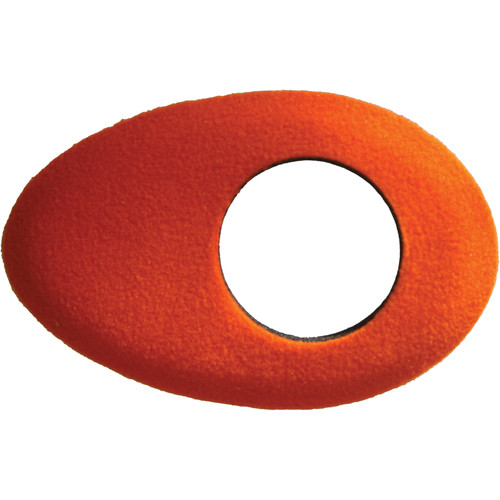 Bluestar Oval Long Viewfinder Eyecushion (Fleece, Orange)