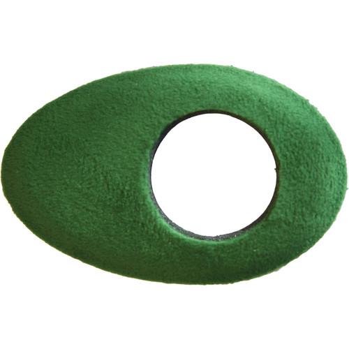 Bluestar Oval Long Viewfinder Eyecushion (Fleece, Green)