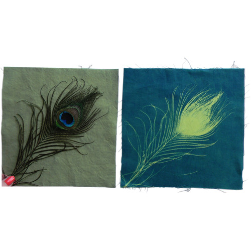 "Cyanotype Store Cyanotype Cotton Squares - 8 x 8"" (25 Pack, Lime)"