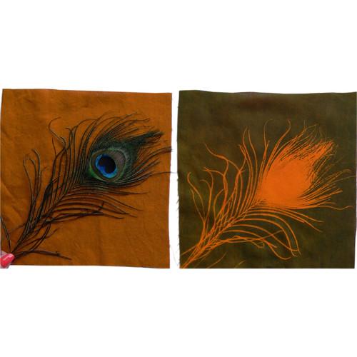 "Cyanotype Store Cyanotype Cotton Squares - 8 x 8"" (25 Pack, Orange)"