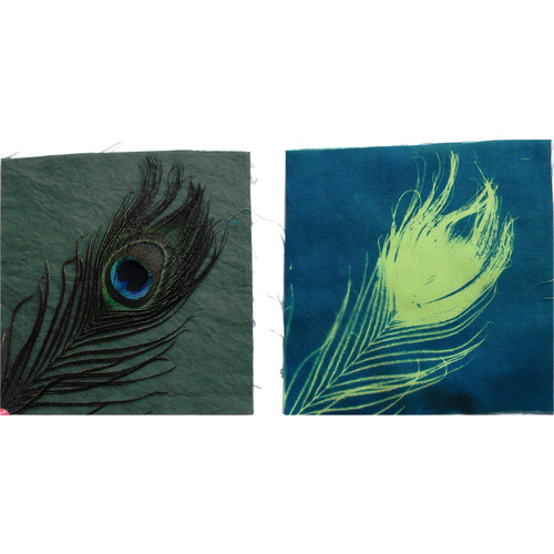 """Cyanotype Store Cyanotype Cotton Squares - 6 x 6"""" (25 Pack, Lime)"""