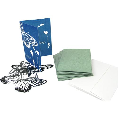 "Cyanotype Store Cyanotype Notecard Design Kit (Set of 6, 5 x 7"", White)"