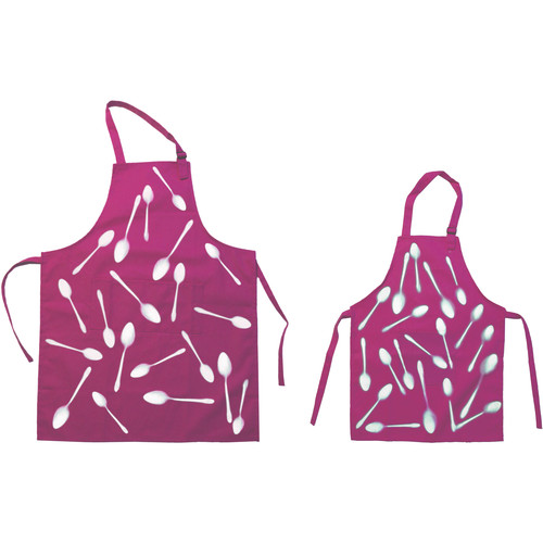 Cyanotype Store Cyanotype Apron (Adult- & Kids-Set, Bubblegum)