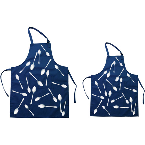 Cyanotype Store Cyanotype Apron (Adult- & Kids-Set, White)