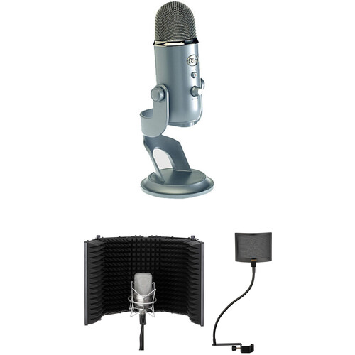 Blue Yeti USB Mic Kit with Windscreen and Reflection Filter (Platinum)