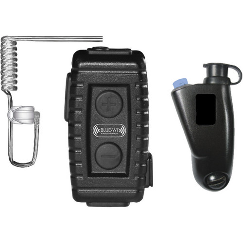 BLUE-WI Nighthawk Tactical Bluetooth Lapel Mic and BW-NT5033 Motorola Radio Adapter