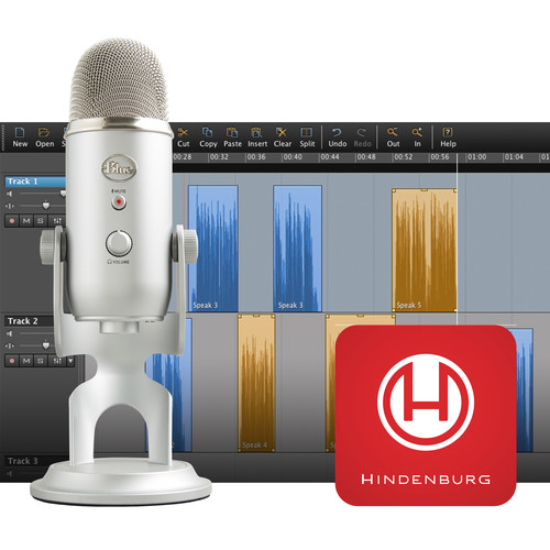Blue Yeti Podcaster Kit with USB Microphone and Hindenburg Journalist DAW