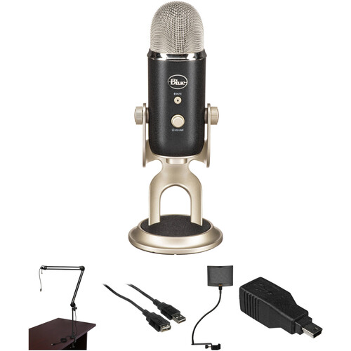 Blue Yeti Pro Microphone with Broadcast Arm and Pop Filter Kit