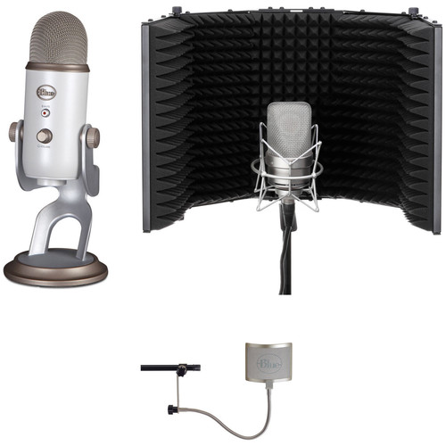 Blue Yeti USB Mic Kit with Windscreen and Reflection Filter (White Gold)