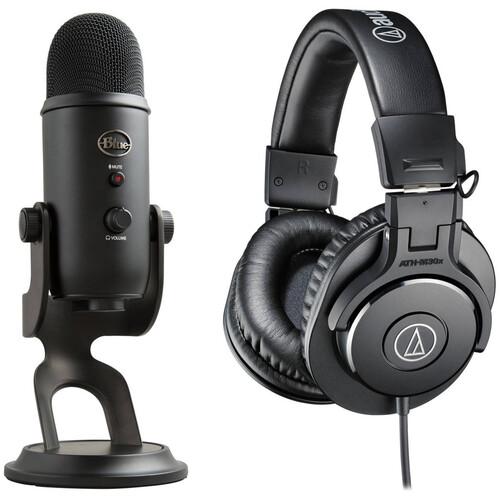 Blue Yeti USB Microphone and ATH-M30x Headphone Kit (Blackout)